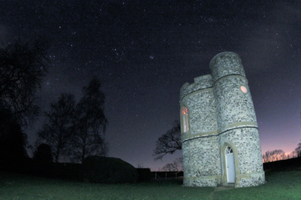 Orion, The Seven Sisters and Cassiopeia at Prospect Tower