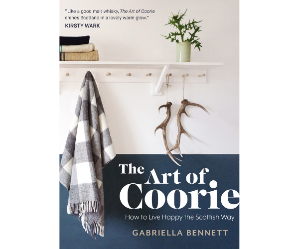 Front cover design of The Art of Coorie by Gabriella Bennet