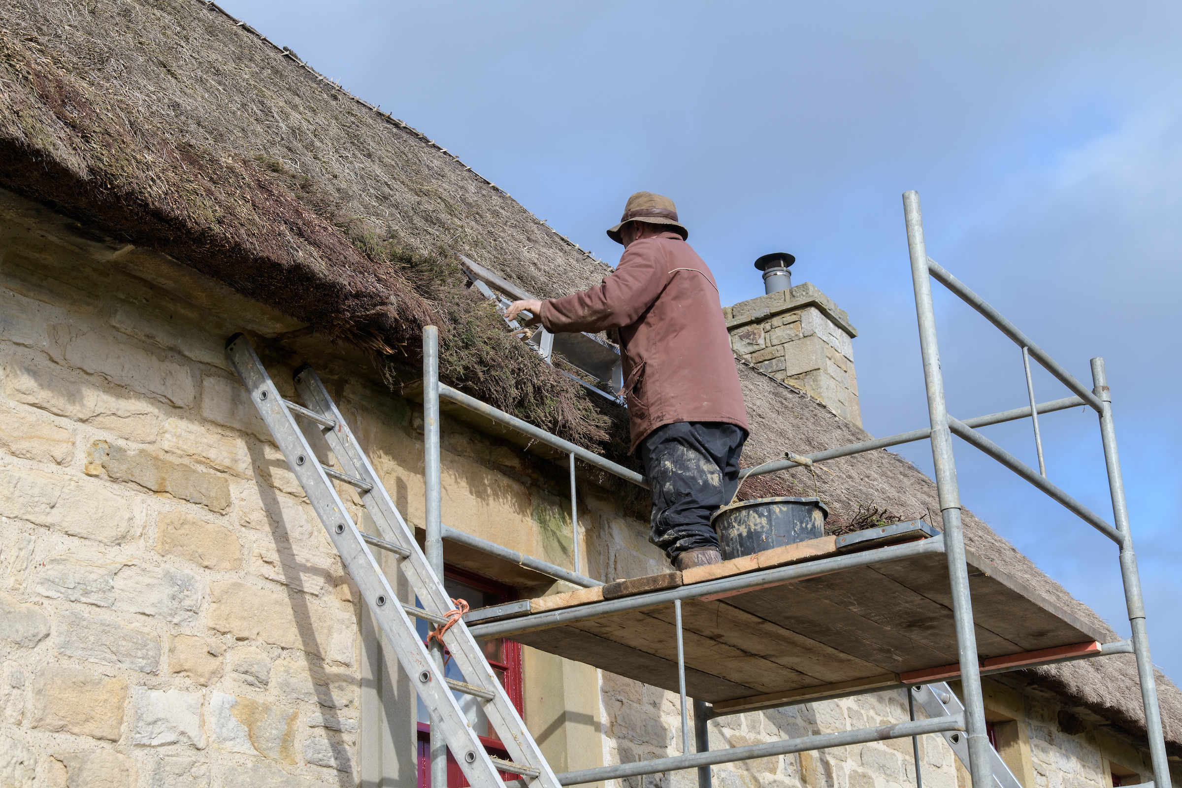 Heather thatching at Causeway House