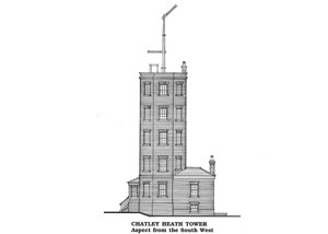 Semaphore Tower detailed drawing South West elevation