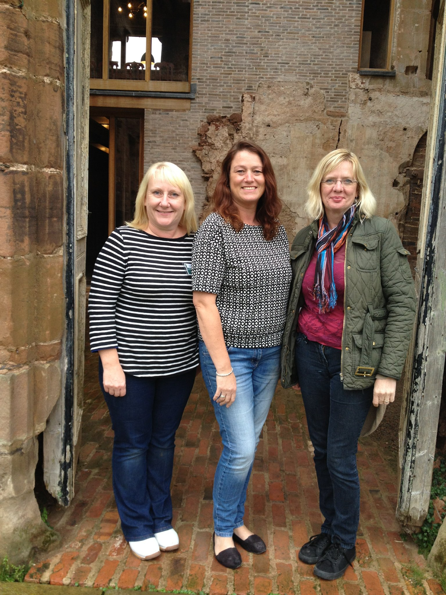 Housekeepers Lynee, Marie and Carolyn at Astley Castle
