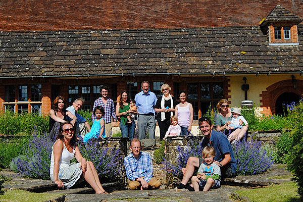 The Keay family after a hard morning's sardines, Goddards, June 2013