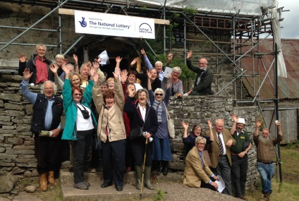 The Local History group celebrate the news of the HLF grant