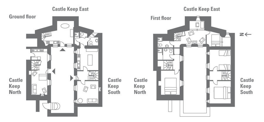 Holiday at castle keep north on lundy island devon the for Castle rock floor plans