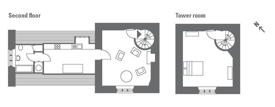 Holiday at the tower at canons ashby northamptonshire for Ashby house plan